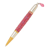 Diva Charm Ruby Red Crystals Pen in Gold TN & Rhodium
